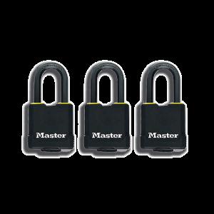 Master Lock Weatherproof Padlock - 3 Pack - 45mm