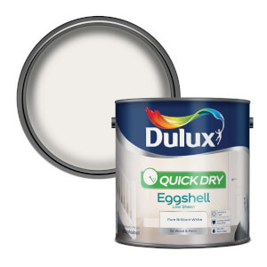 Dulux Pure Brilliant White - Quick Dry Eggshell - 2.5L