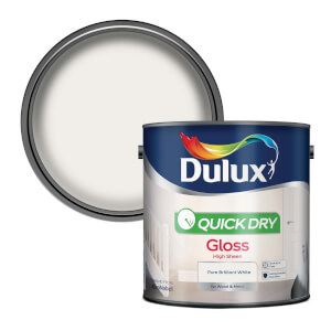 Dulux Pure Brilliant White - Quick Dry Gloss - 2.5L