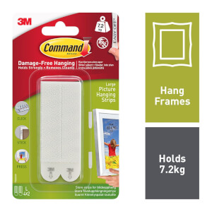 Command Large Picture Hanging Strips - 4 Sets