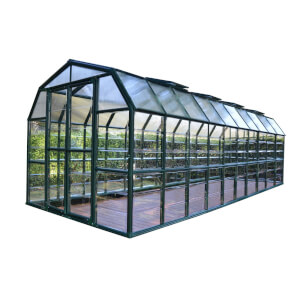 Rion 8 x 20ft Grand Gardener Black Greenhouse