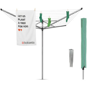 Brabantia Liftomatic Outdoor Rotary Clothes Airer - 60m
