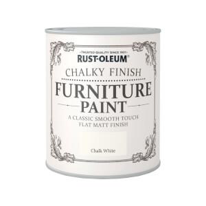 Rust-Oleum Chalky Furniture Paint - Chalk White - 750ml