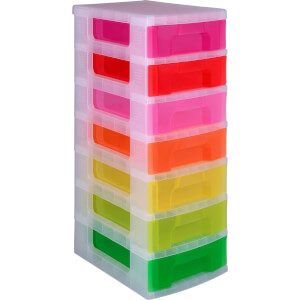 Really Useful 7 Drawer Colour Drawer Tower