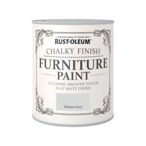 Rust-Oleum Chalky Furniture Paint - Winter Grey - 750ml