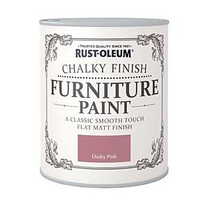 Rust-Oleum Chalky Furniture Paint - Dusky Pink - 125ml