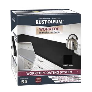 Rustoleum Kitchen Worktop Transformation - Black