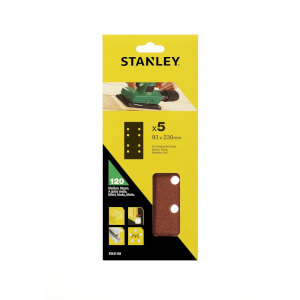 Stanley 1/3 Sheet Sander Punched Wire Clip 120G Sanding Sheets