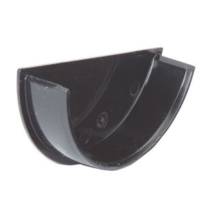 Polypipe Half Round Gutter Stop End Internal - 112mm - Black