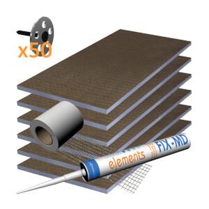 Wetrooms2Go 12mm Waterproof Board Wall Kit 4.32m sq