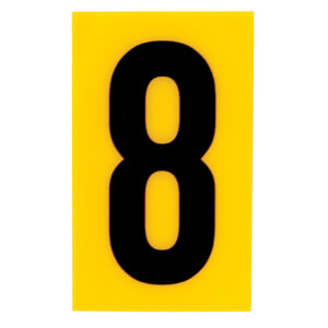 Breeze Yellow Self Adhesive House Number - 60mm - 8