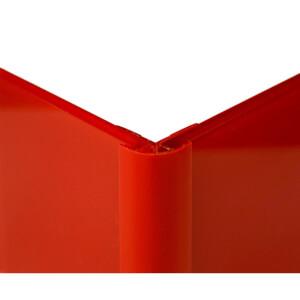 Zenolite Colour Matched PVC External Corner - Splashback Profile - 125cm - Red