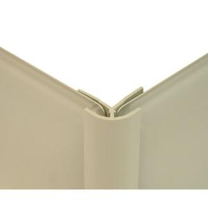 Zenolite Colour Matched PVC External Corner - Splashback Profile - 125cm - Safari