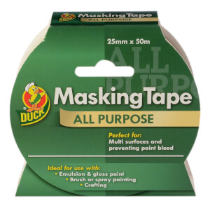 Duck All Purpose Masking Tape - 25mm x 50m