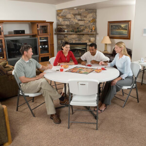 Lifetime 60 Inch Round Fold-In-Half Table