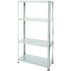 Galvanised Steel 4 Shelf Storage Unit