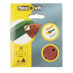 Flexovit PTA Sanding Sheet Corner Triangle - 94mm - 50 Grit