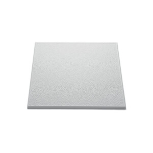 Stipple Ceiling Tiles - White - coverage 2 sq m - 8 Pack