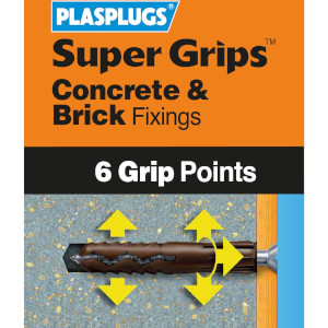 Plasplugs Brown Solid Wall Fixings Clip Pack x 100