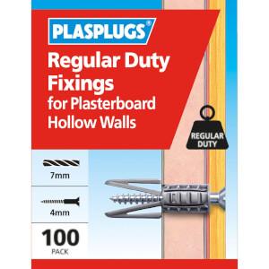 Plasplugs Standard Plasterboard Fixings x 100