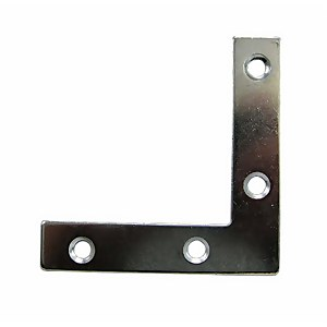 Corner Plate Zinc 63mm - 2 Pack