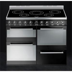 Smeg SYD4110IBL Symphony Electric Induction Range cooker - 110cm - Black