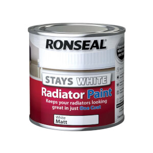 Ronseal Stays White Radiator Paint Matt - 250ml