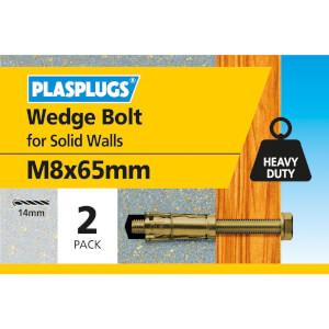 Wedge Bolt M8 X 65mm 4 Pk