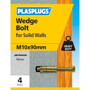 Wedge Bolt M10 X 90mm 4 Pk