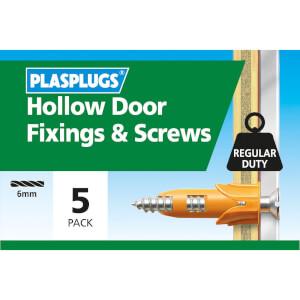 Plasplugs Hollow Door & Screws x 5