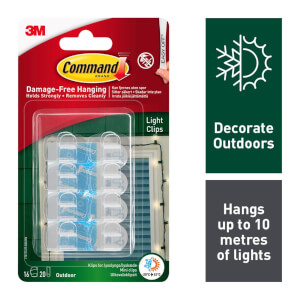 Command Outdoor Decoration Light Clips Value Pack