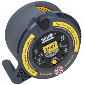 SMJ Reel Pro 4 Socket Cable Reel 20m Black