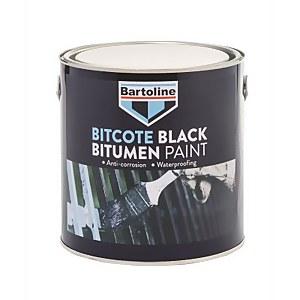 Bartoline Bitcote Black Bitumen Paint - 2.5L