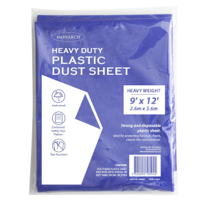 Monarch Heavy Duty Plastic Dust Sheet - Blue - 2.6m x 3.6m