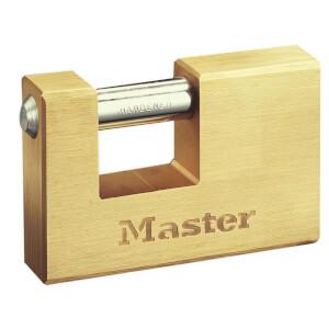 Master Lock Brass Rectangle Lock - 85mm
