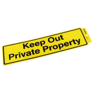 Self Adhesive Keep Out Private Prop Sign - 330 x 95mm