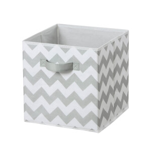 Compact Cube Fabric Insert - Grey Chevron