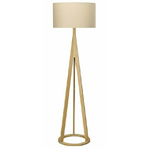 Mason Wooden Tripod Floor Lamp