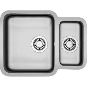 Carron Phoenix Zeta Undermount Reversible Kitchen Sink - 1.5 Bowl