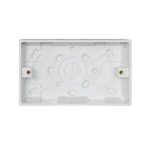 Arlec 2 Gang Pattress Box 25mm White
