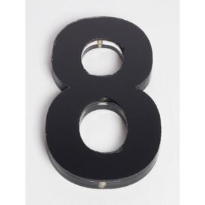 Ultra Black House Number - 120mm - 8