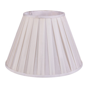 Round Box Pleat Lamp Shade - Cream - 40cm