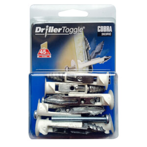 Cobra Driller Toggle - Hollow Wall Fixings x 6 - 363RE