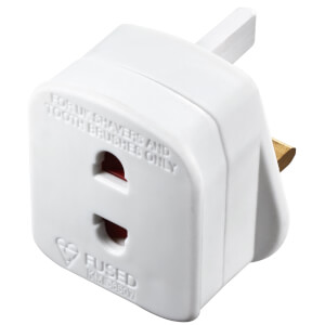 Masterplug Shaver Adaptor White
