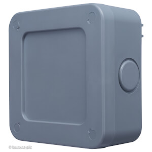 BG 5 Way Terminal Weatherproof Junction Box IP66 Rated Grey