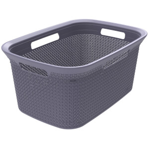Ezy Storage Mode 45L Laundry Basket - Lilac
