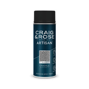 Craig & Rose Artisan Crackle Effect Spray Paint - Black - 400ml