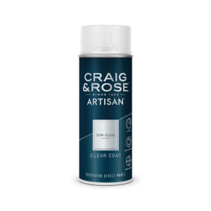Craig & Rose Artisan Semi Gloss Spray Paint - Clear Coat - 400ml