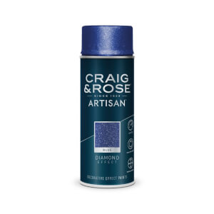 Craig & Rose Artisan Diamond Effect Spray Paint - Diamond Blue - 400ml