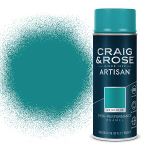 Craig & Rose Artisan Enamel Gloss Spray Paint - Gogo Blue - 400ml
